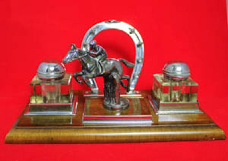jockey chrome desk stand