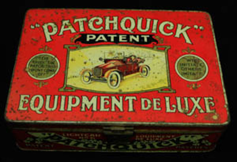 1920s patchquick tin