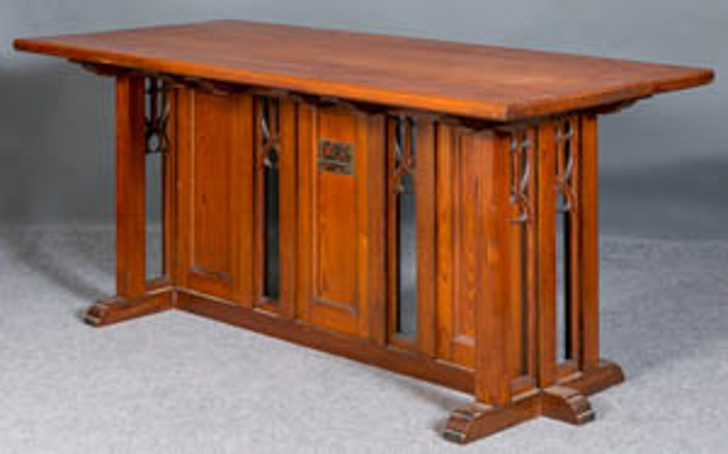 Gothic pitch pine altar table