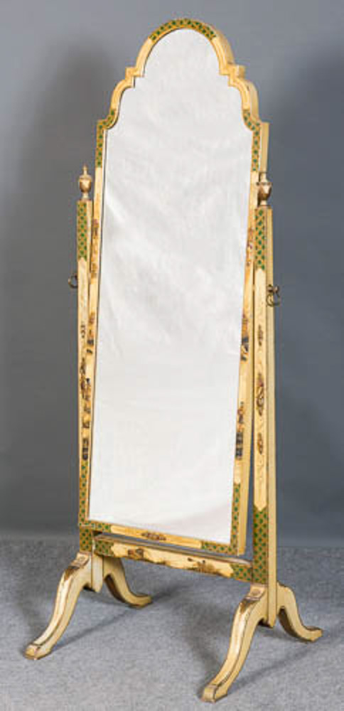 Chinoiserie cheval mirror