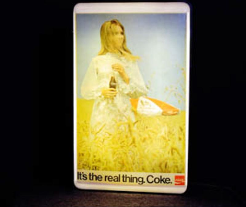 Coca cola illuminated sign