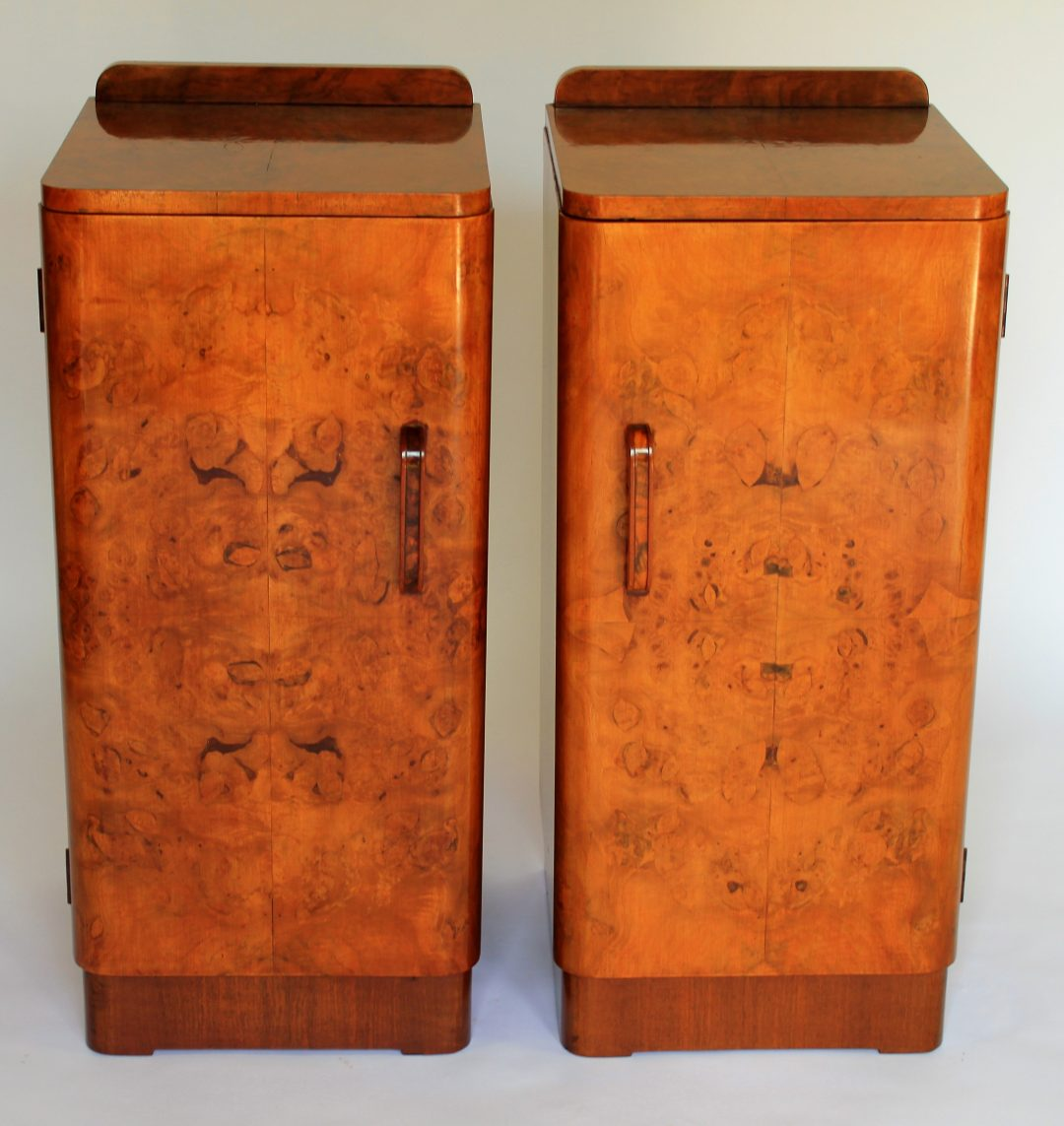 pair Art Deco bedside cabinets